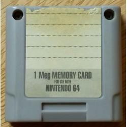 Nintendo 64: 1 MB Memory Card