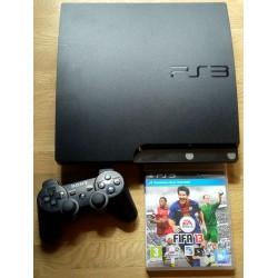 Playstation 3 Slim: Komplett konsoll - Sort