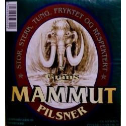 Etiketter: Grans Mammut Pilsner (Grans Bryggeri, Sandefjord)