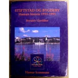 Brynjulv Gjerdåker: Hamars historie 1935-1991 - Stiftstad og bygdeby