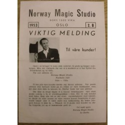 Norway Magic Studio: 1953 - 2.B