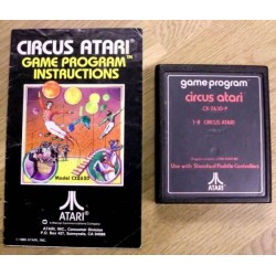 Circus Atari med manual