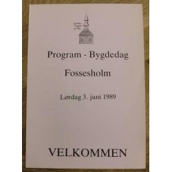 Program - Bydgelag Fossesholm - 1989