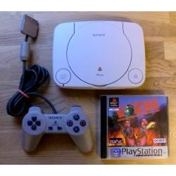 Sony Playstation 1: Komplett PSone konsoll med Worms