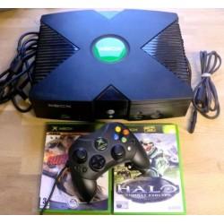 Xbox: Komplett konsoll med Halo og Burnout